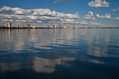 Afternoon Bay Vista. Mid afternoon view of Old Tampa Bay with some clouds Stock Images