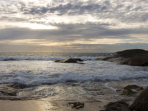 Afternoon beach. Late afternoon on a secluded beach Royalty Free Stock Photos
