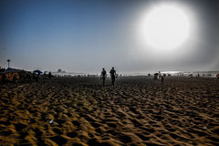 Afternoon beach vibe. A photograph taken of a beach in the city of casablanca Morokko, Africa. it was taken late afternoon Royalty Free Stock Image