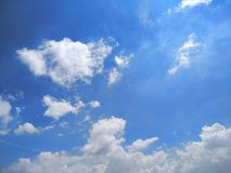 Afternoon. Beautiful blue sky todays afternoon royalty free stock photos
