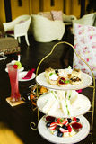 Afternoon british high tea. Detail Royalty Free Stock Images
