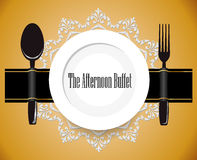 The afternoon buffet, lunch, all you can eat buffet sign Royalty Free Stock Photo