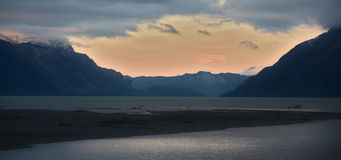 Afternoon at Carretera Austral Road, Chilean Patagonia Royalty Free Stock Images