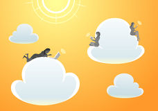 Afternoon Cloud Computing Stock Photography