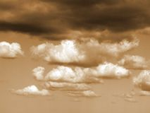 Afternoon clouds with a glow. Stock Photo