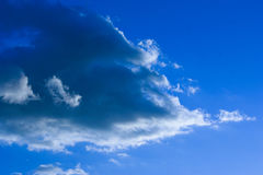 Afternoon clouds. Clouds in the afternoon in madrid, fast shot without filters Royalty Free Stock Photography