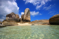 Afternoon on the coast on Belitong island stock photography