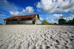 Afternoon on the coast on Belitong island stock photo