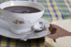 Afternoon coffee royalty free stock photography