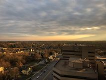 Afternoon Fall Day Over the City Stock Photography