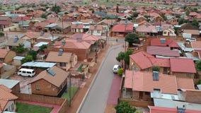 A flyover a township in Pretoria stock video