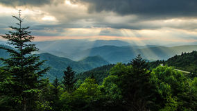 Blue Ridge Parkway Late Afternoon Sky  Royalty Free Stock Images