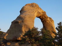 Afternoon Glow. Red rock arch hidden away in the desert Southwest royalty free stock photography