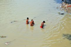 Afternoon Indian Hygiene in Kolkata royalty free stock image