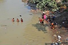 Afternoon Indian Hygiene in Kolkata stock photo