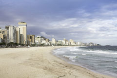Afternoon on Ipanema Beach in Rio de Janeiro Royalty Free Stock Photo