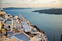 Afternoon on the island of Santorini Royalty Free Stock Photo