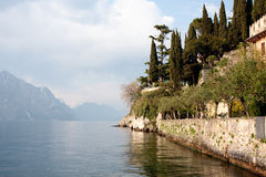 Afternoon on Lake Garda in Italy. Lake Garda near Malchesine in Italy Royalty Free Stock Image