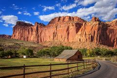 Afternoon light in Capitol Reef royalty free stock photos