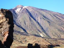 In afternoon light the cone of Teide Royalty Free Stock Photography