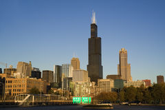 Afternoon Light in downtown Chicago Royalty Free Stock Photos