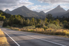 Afternoon Light on Mt Warning. Mt Warning in northern NSW Australia viewed from Murwillumbah Rd shot in the afternoon sun Stock Images