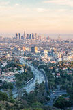 Afternoon of Los Angeles from Hollywood Hills Stock Photos