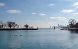 Afternoon at Montrose Harbor Stock Photo