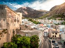 Afternoon mood in Castellamare del Golfo royalty free stock photography