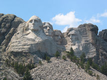 Afternoon at Mount Rushmore. A summer afternoon at Mount Rushmore, South Dakota royalty free stock photography