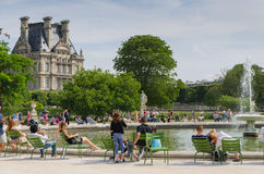 Afternoon in the park. Afternoon in the Tuileries Gardens in Paris Royalty Free Stock Photos