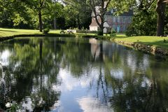 Afternoon at the pond on a summer day. Royalty Free Stock Photography
