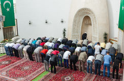 Afternoon prayer in mosque royalty free stock photos