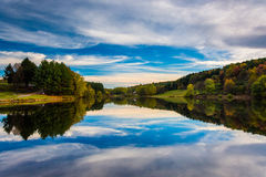 Afternoon reflections at Long Arm Reservoir, near Hanover, Penns Royalty Free Stock Image