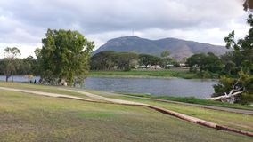 Afternoon river walk. Queensland  Townsville australia Royalty Free Stock Photo