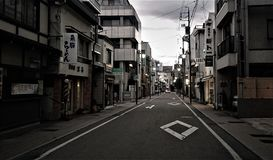 During the afternoon on the road of Takayama, Japan Stock Images