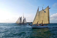 Afternoon Sail off Key West, Florida Stock Photo
