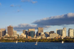 Afternoon Sailing in Boston, Massachusetts Stock Photos