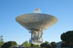Afternoon scene of Madrid Deep Space comunication complex. It is part of NASA`s Deep Space Network managed by the Jet Propulsion. Laboratory stock photos