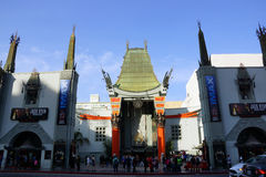 Afternoon shadow casts on Grauman's Chinese Theater with IMAX. LOS ANGELES - JANUARY 23:: Afternoon shadow casts on Grauman's Chinese Theater with IMAX on stock photo