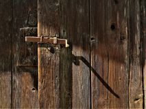 Afternoon shadow on the door royalty free stock photos