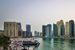 Dubai Creek Luxury and Business Royalty Free Stock Image