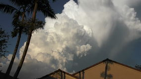 Afternoon storm brewing timelapse stock footage