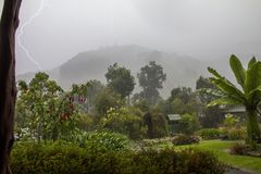 Afternoon storm, Codillera de Talamnca, Costa Rica stock photo