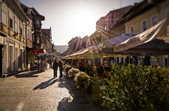 Afternoon in Strada Republicii Royalty Free Stock Image