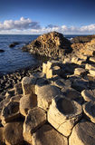 Afternoon sun on the great Giant's Causeway Royalty Free Stock Image