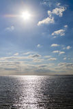 Afternoon sun over the sea Royalty Free Stock Image