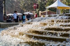 Free Afternoon Sunny View Of The Patsy And Forrest Shumway Fountain Of USC Royalty Free Stock Images - 174686659