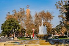 Free Afternoon Sunny View Of The Patsy And Forrest Shumway Fountain Of USC Stock Image - 174686861