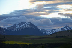 Afternoon and Sunset at Coyhaique, Chilean Patagonia Royalty Free Stock Image